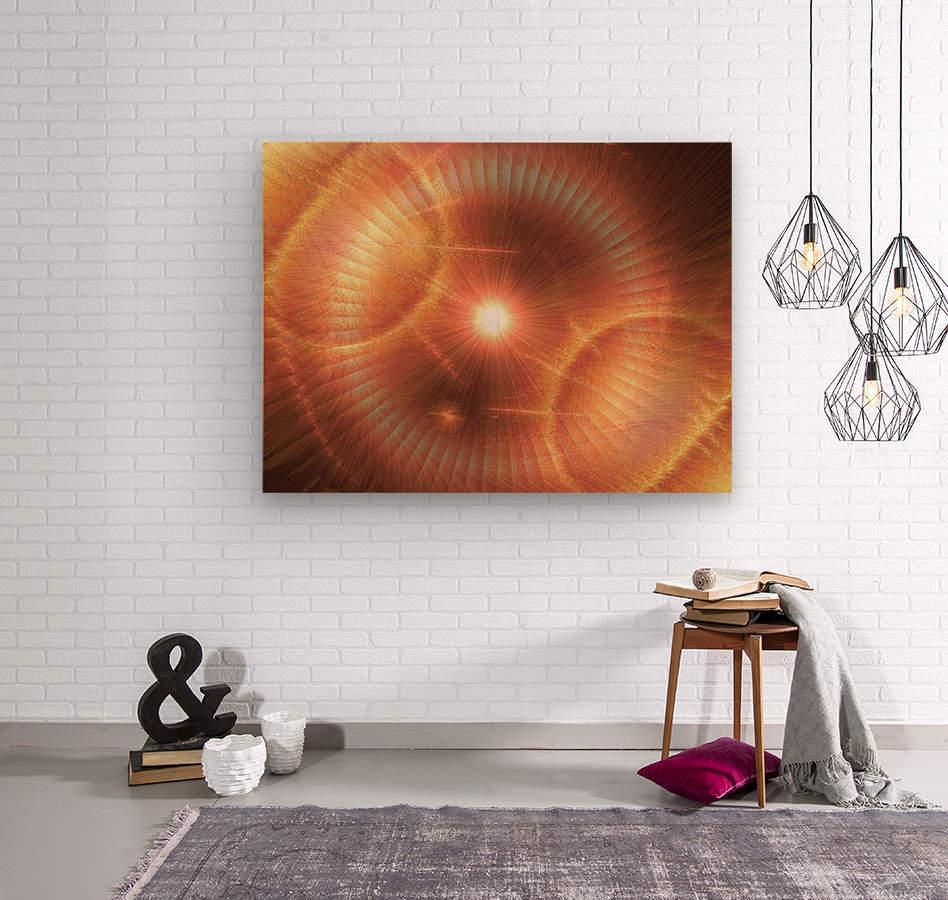 Sun Storm 1  Wood print