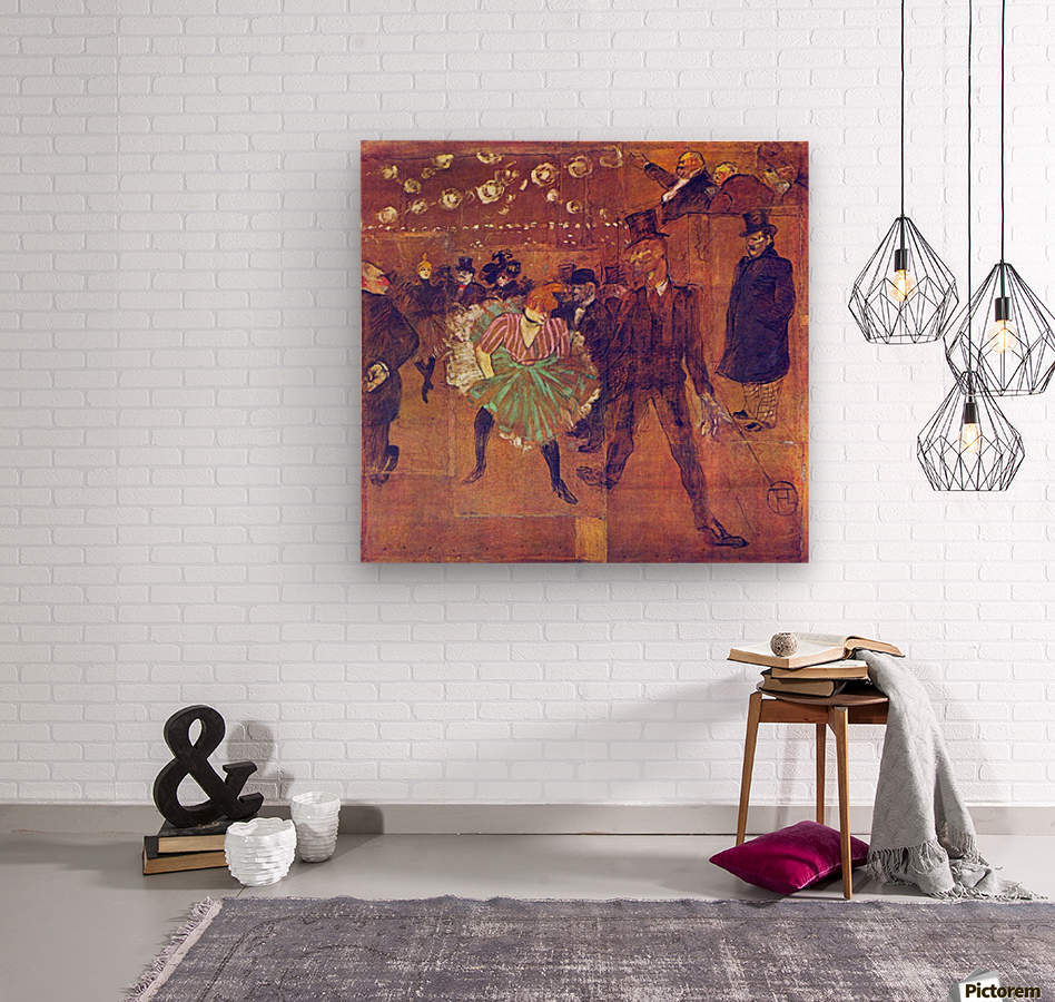 Ball At Moulin-Rouge by Toulouse-Lautrec  Wood print