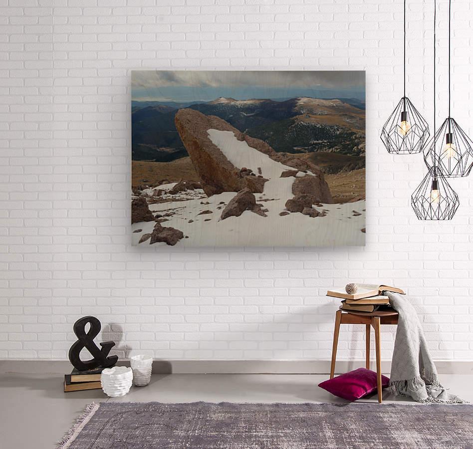Pikes Peak Colorado   Wood print
