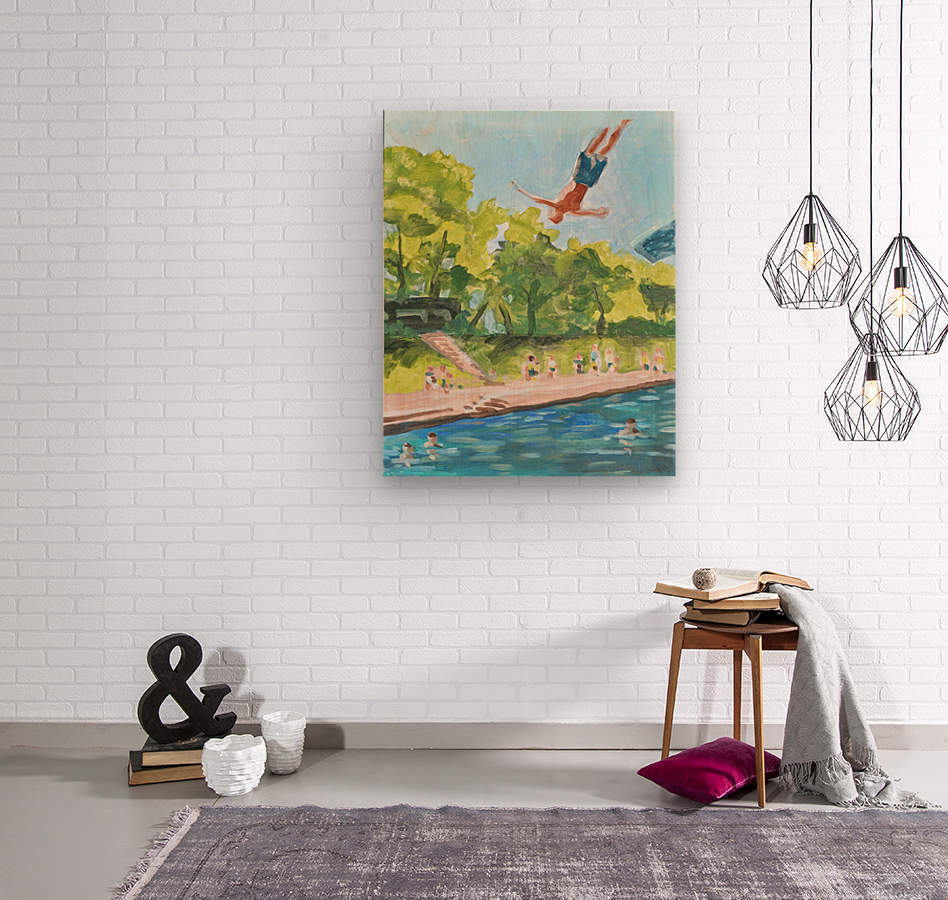 Barton Springs. Zach C  Wood print