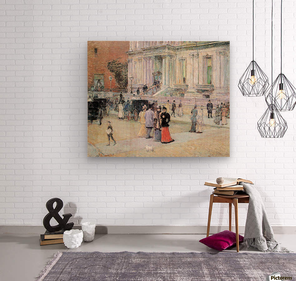 The Manhattan Club (The Villa of the Stewarts) by Hassam  Wood print