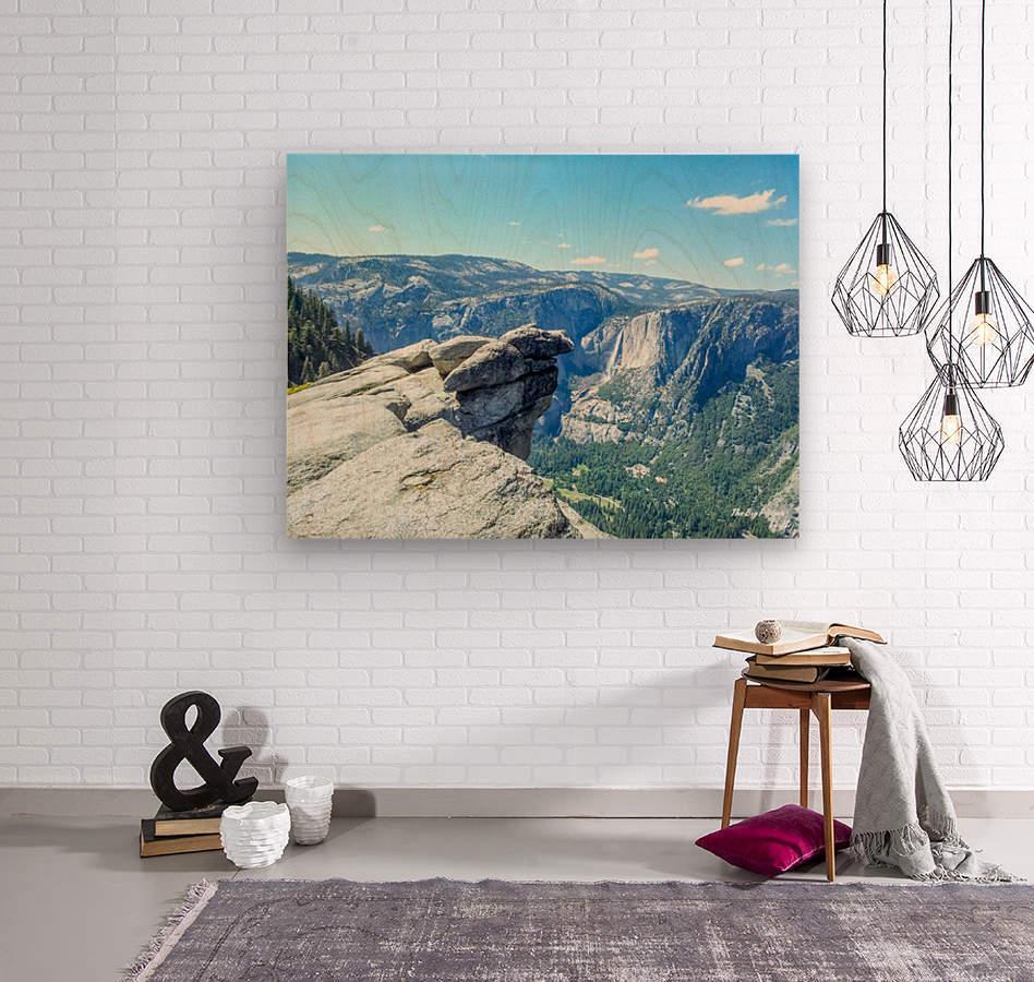 Glacier Point Yosemite Falls  Wood print