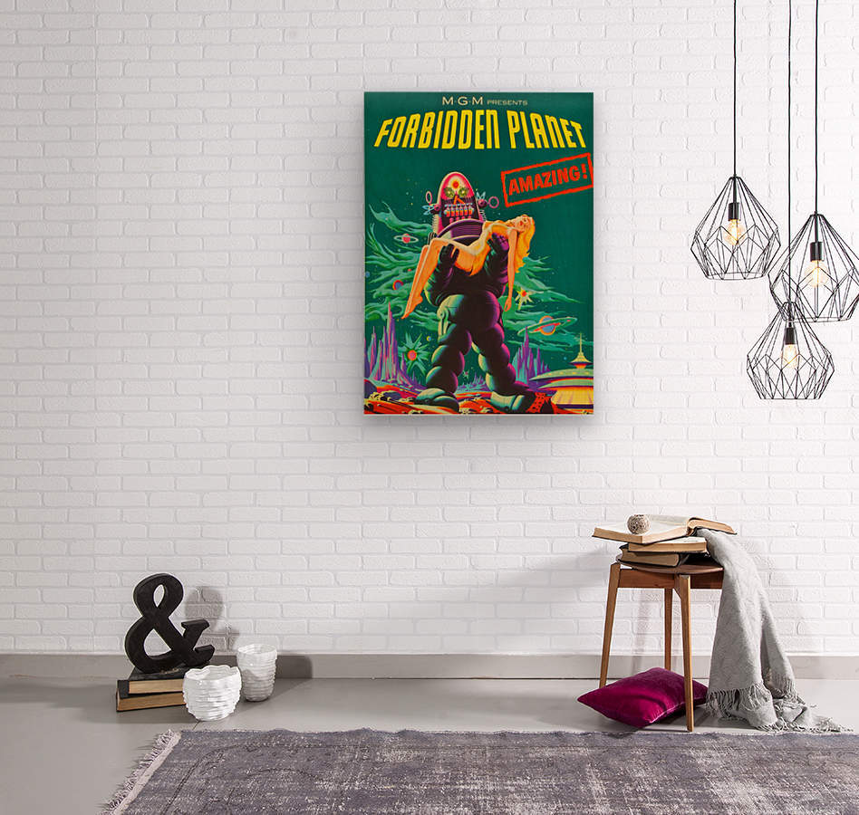 Forbidden Planet - Space Travel  Wood print