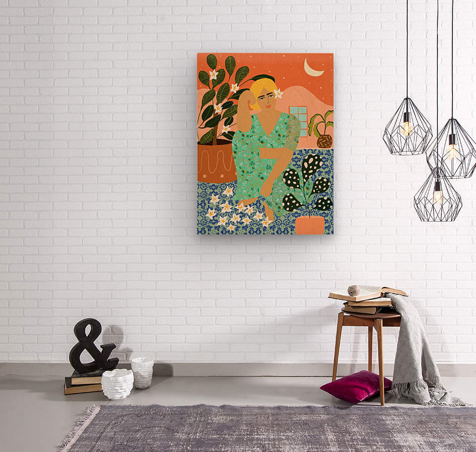 Flower Collector  Wood print