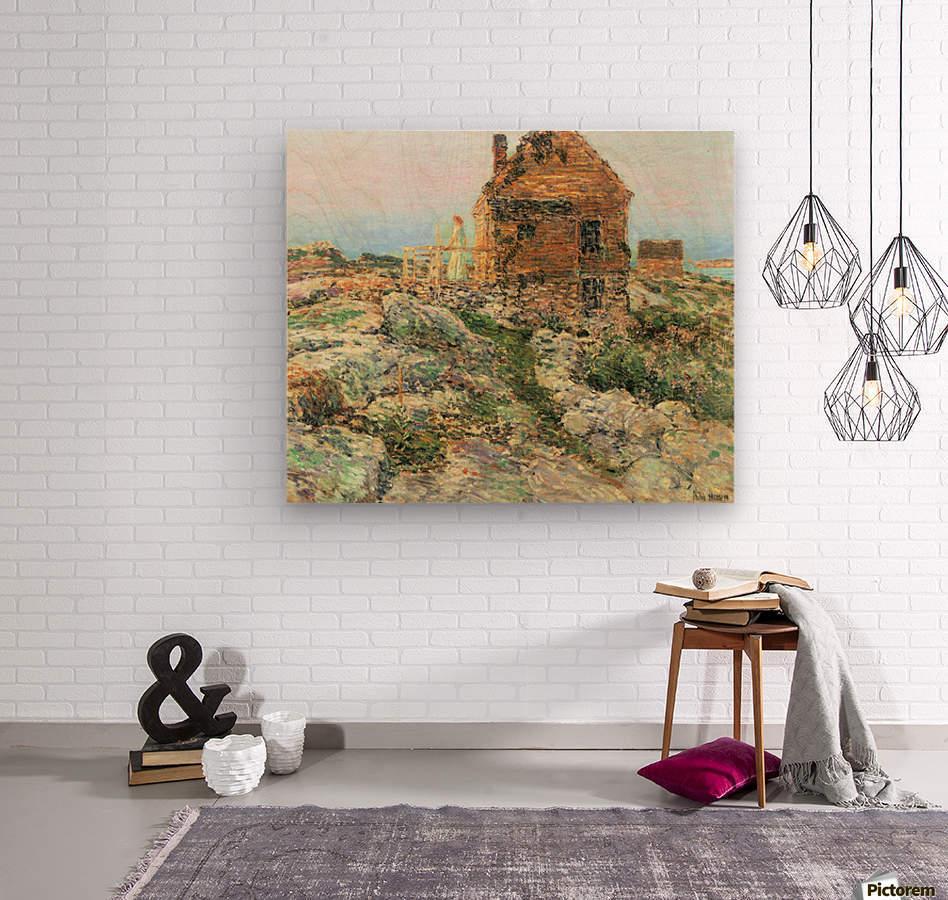 The Norwegian hut by Hassam  Wood print