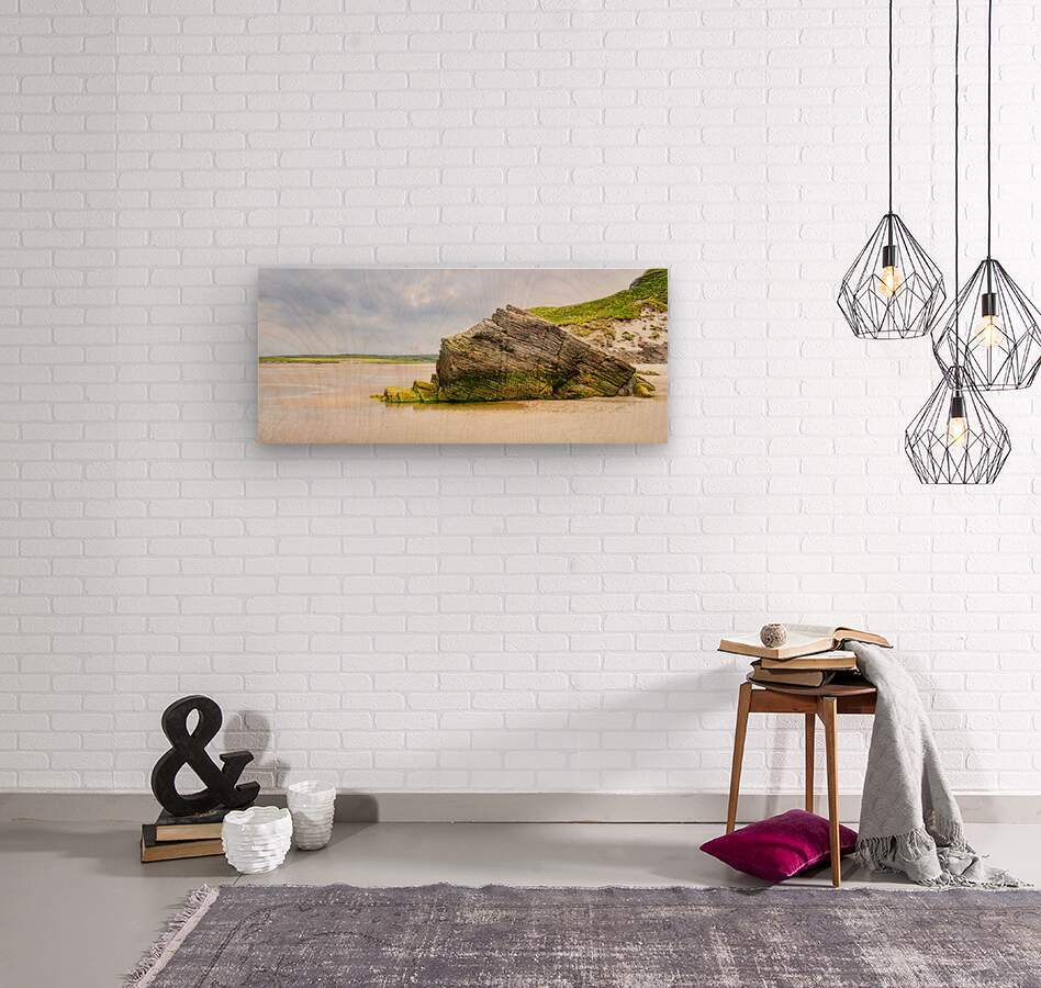 Rock Formations - Maghera Beach 6  Wood print