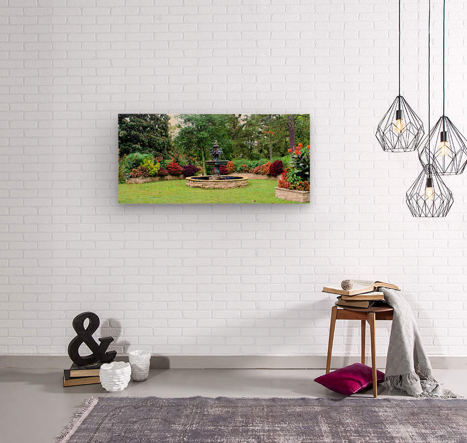 Crescent Gardens  Wood print