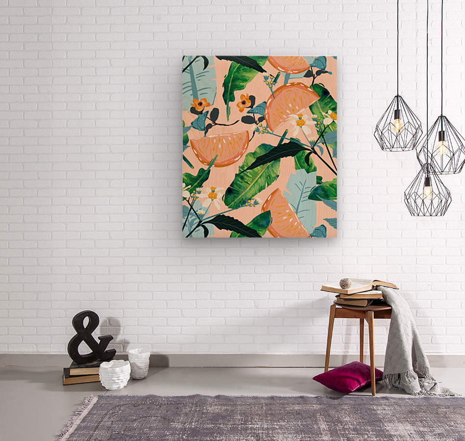Summer Botanicals  Wood print