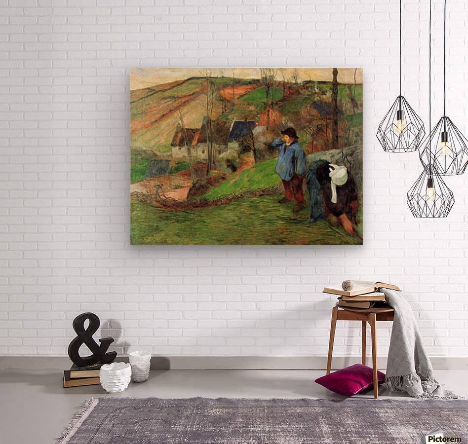 Breton Shepherd by Gauguin  Wood print