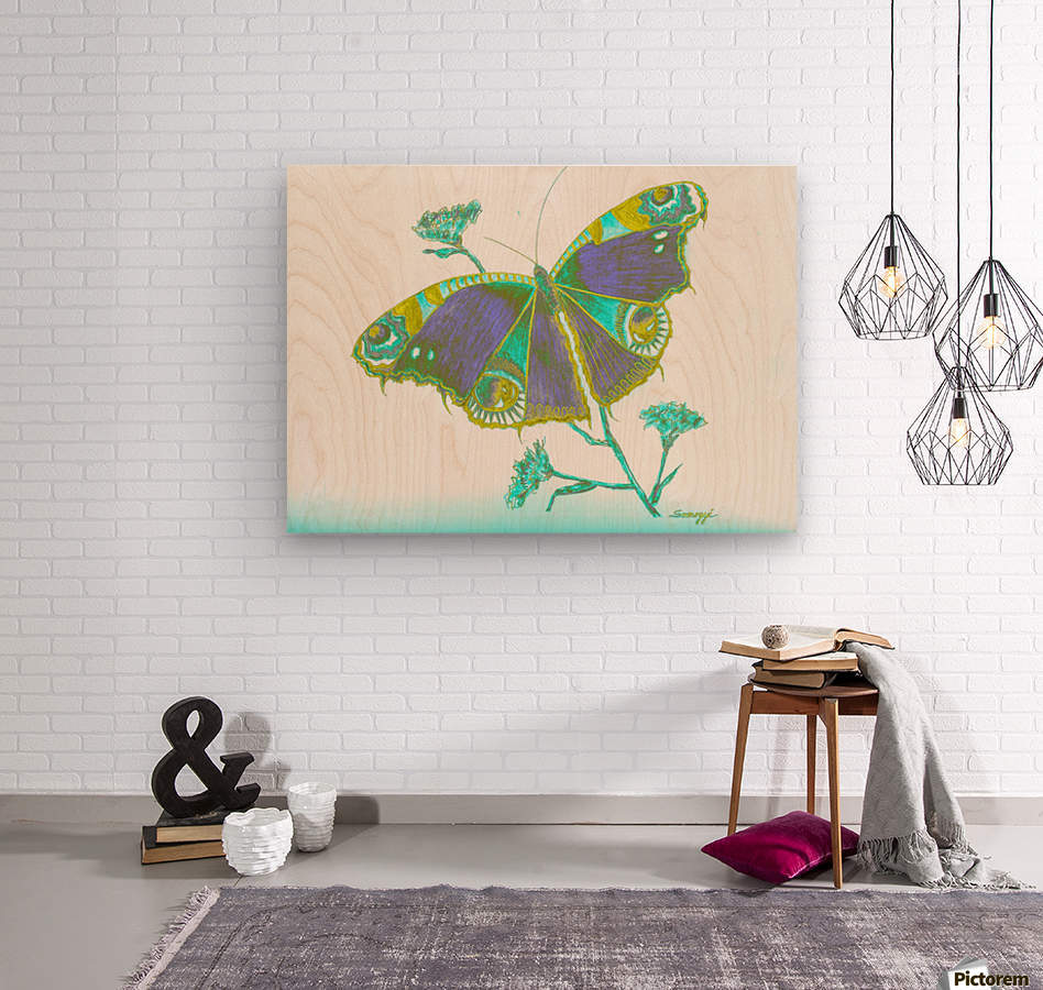 Butterfly Dressed for a Masquerade Ball III  Wood print