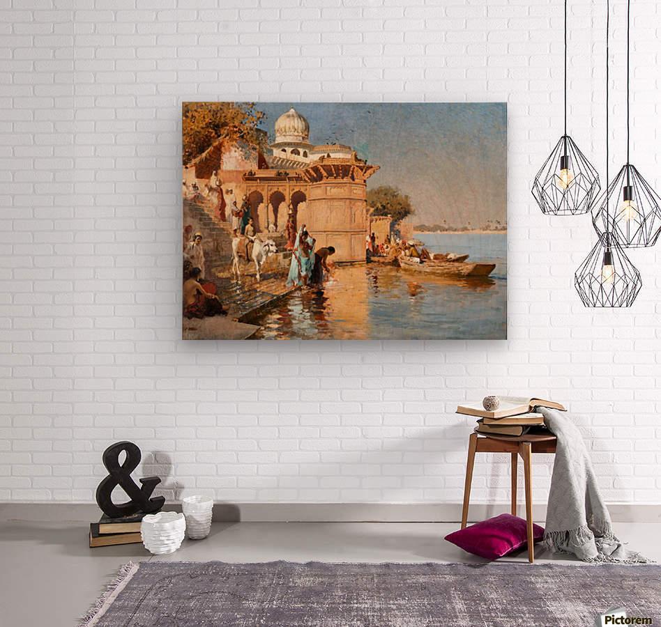 Along the Ghats, Mathura  Wood print