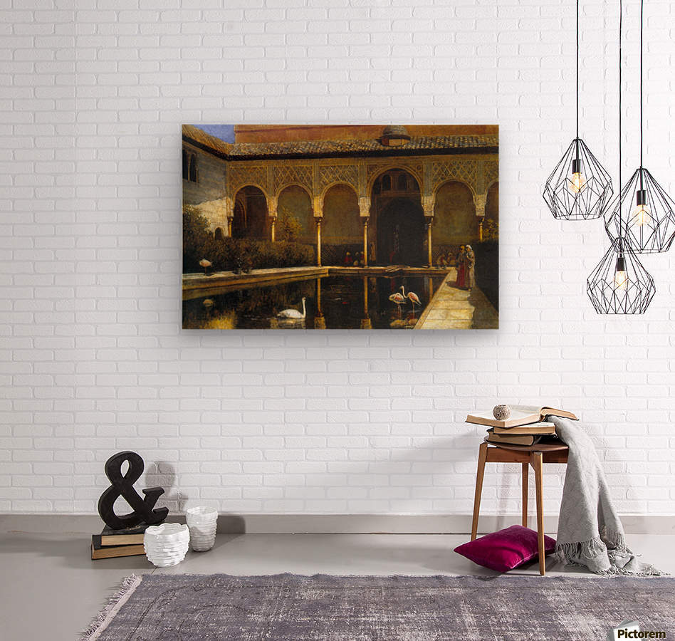 A Court in the Alhambra  Wood print