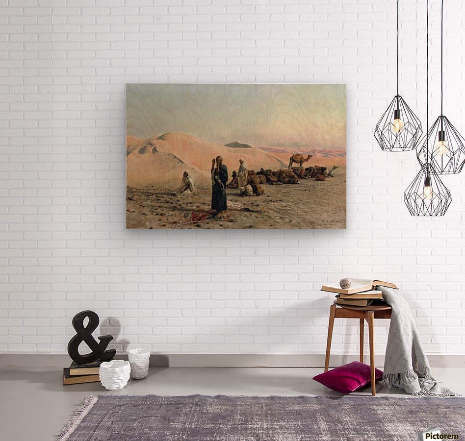 Desert Prayer  Wood print