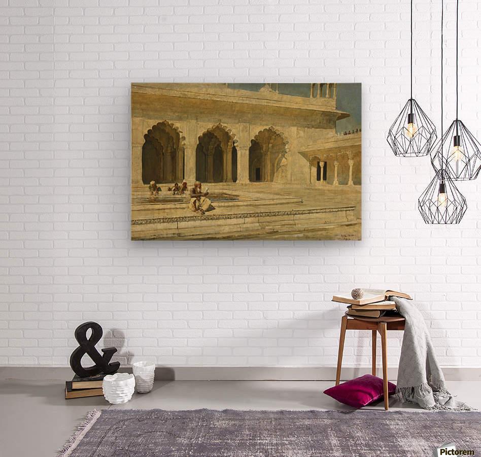 Bath inside palace  Wood print