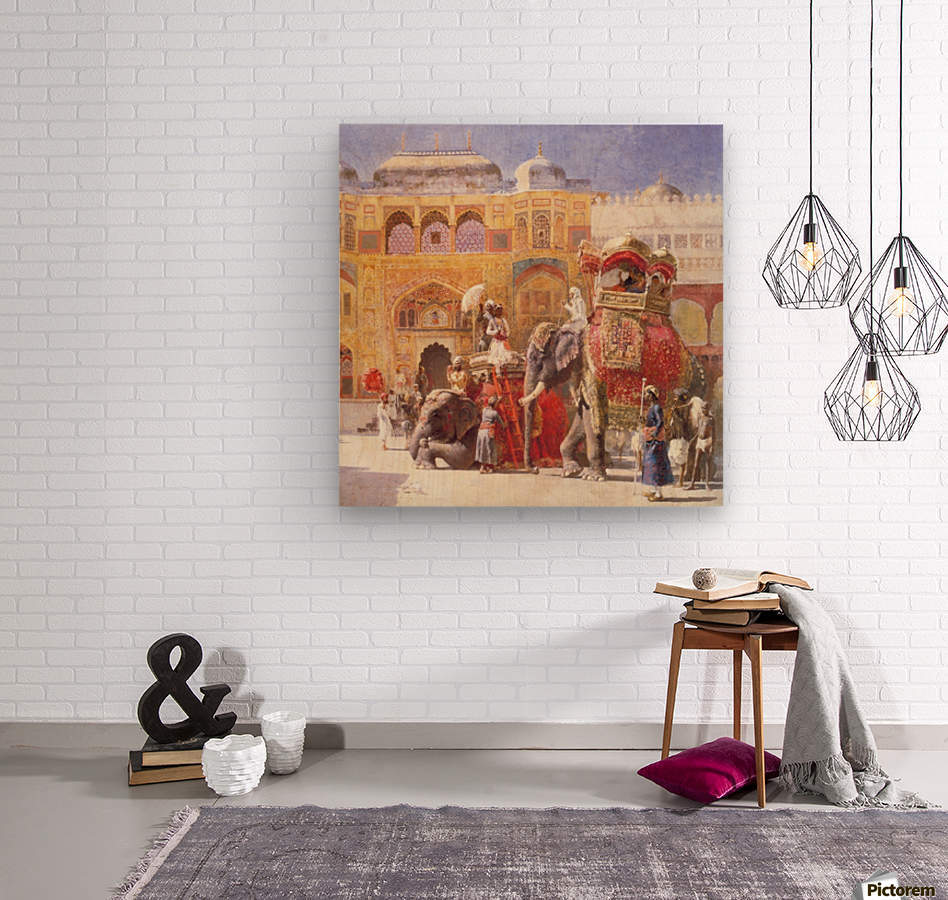 Arrival of Prince Humbert, the palace of Amber  Wood print