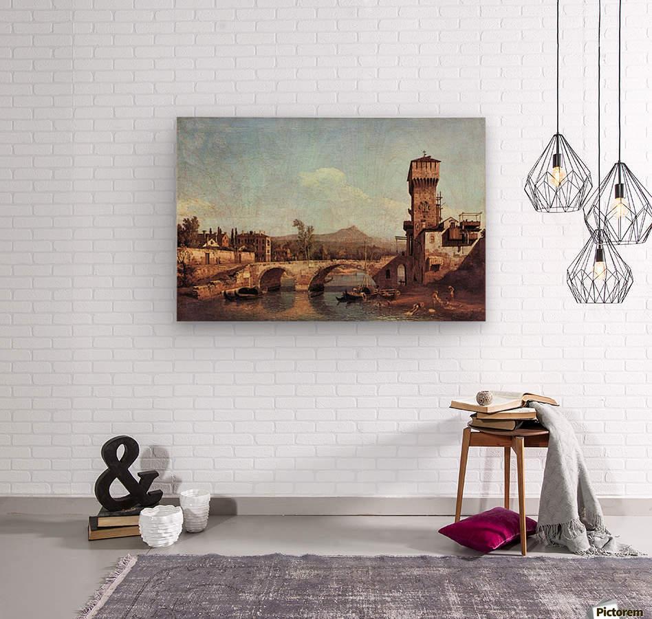 Capriccio Veneto by Canaletto  Wood print