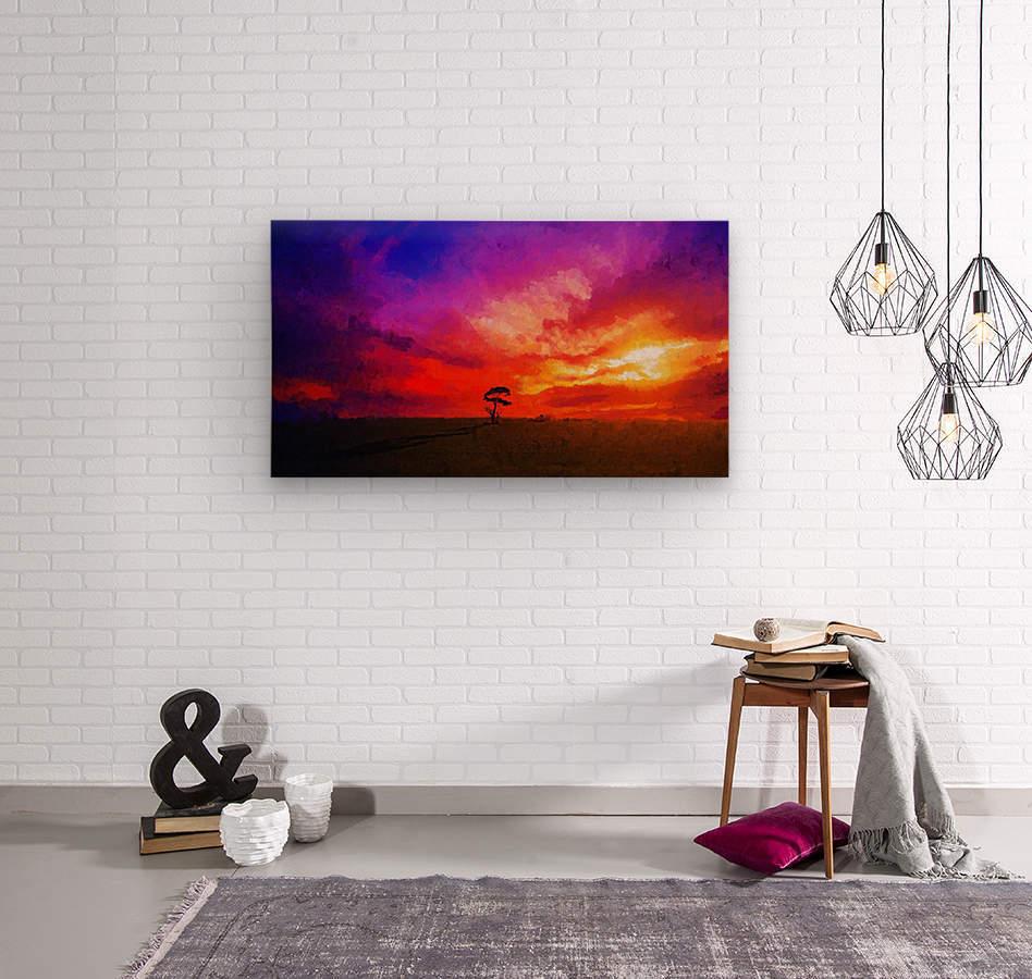 Last Sunset  Wood print