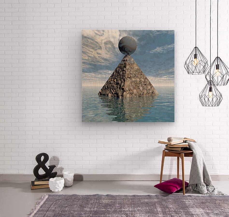 Alien City  Wood print