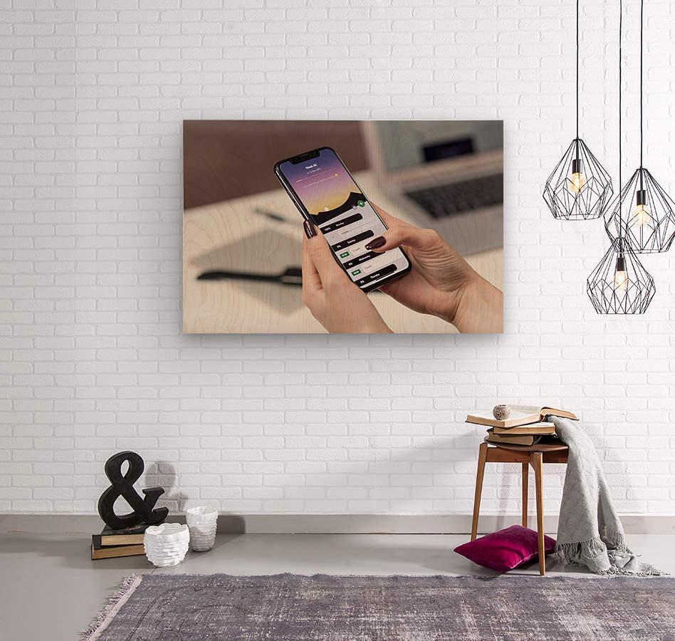 app  Wood print