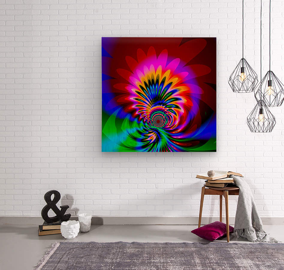 Psychedelic_Flower_series_3  Wood print