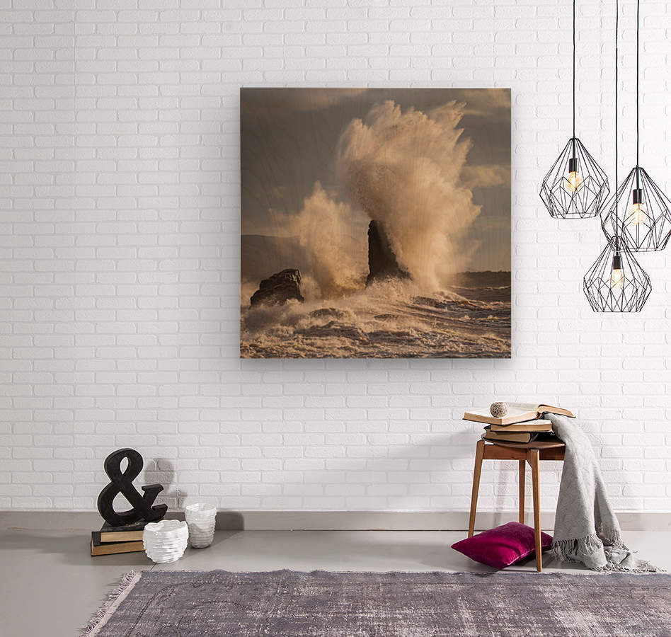 Storm at Presquile  Wood print