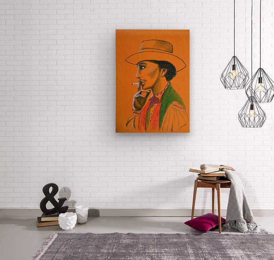 Gypsy Man  Wood print