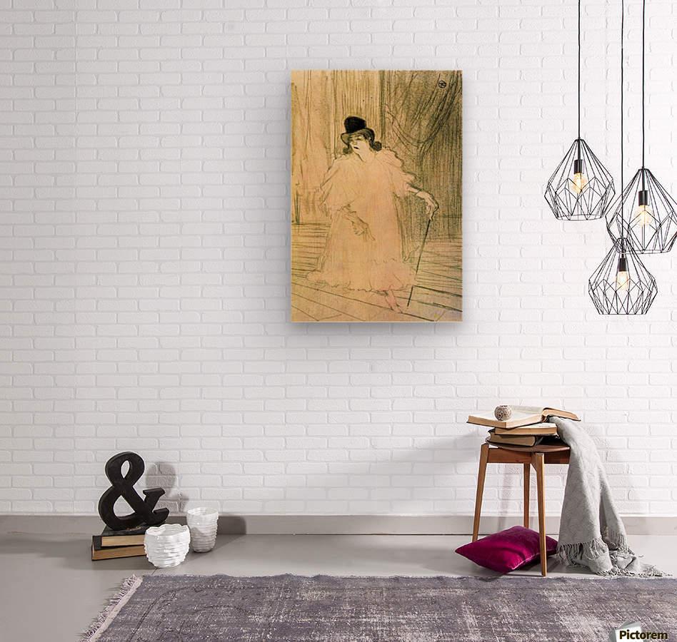 Cecy Loftus by Toulouse-Lautrec  Wood print