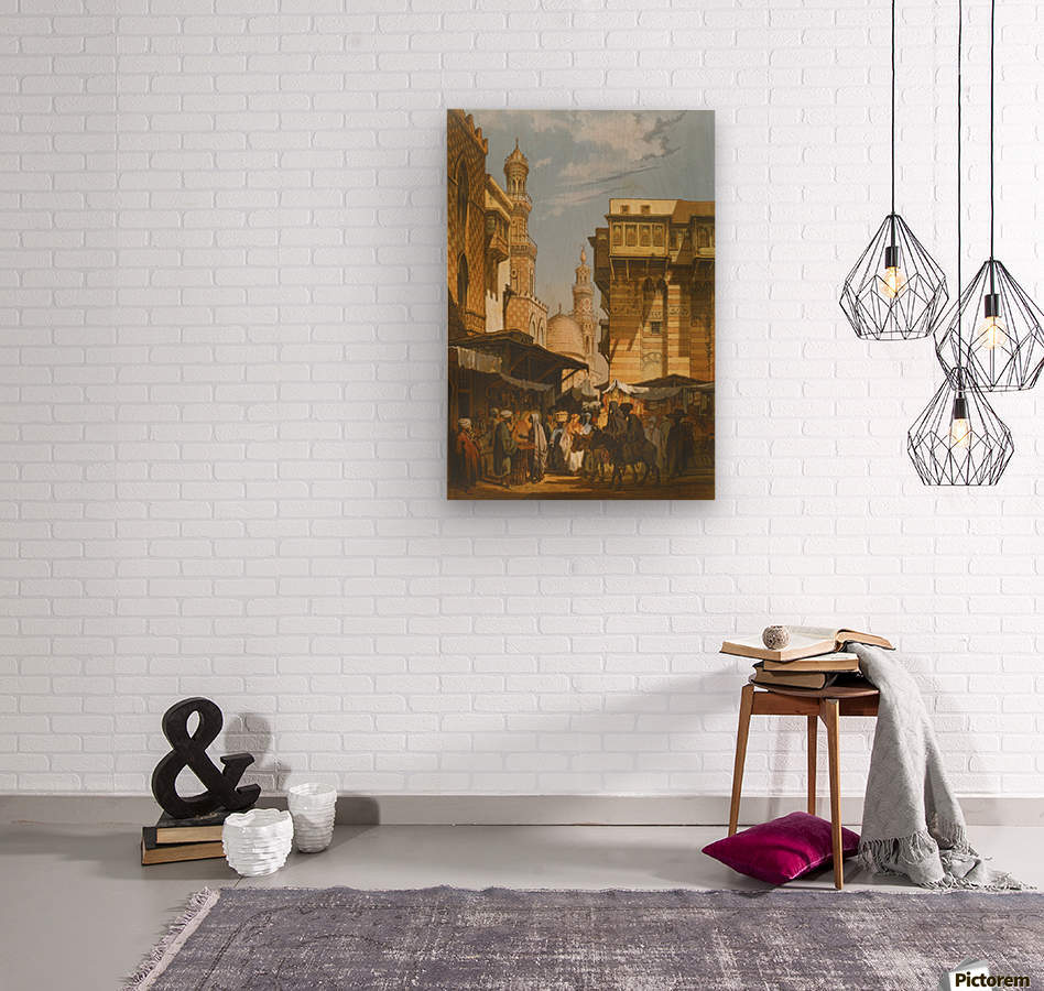 Market in Istanbul  Wood print