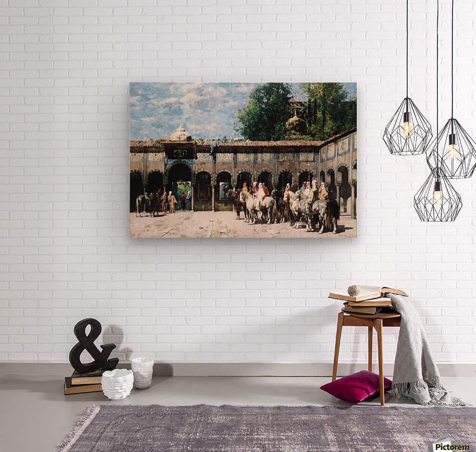 Cavalieri Circassi Che Aspettano Il Loro Capo  Wood print
