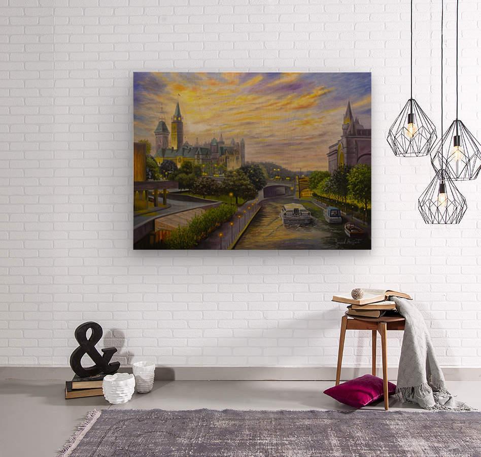 Rideau Canal in Ottawa  Wood print