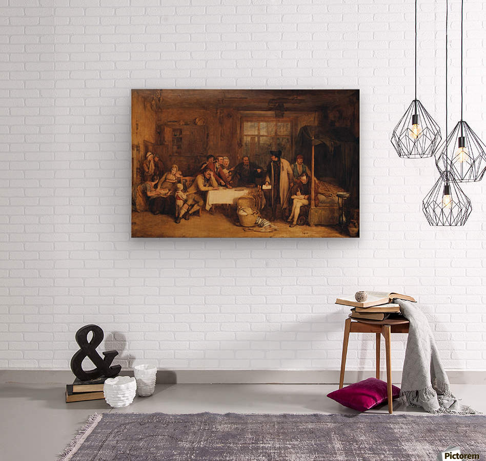 Distraining for Rent  Wood print