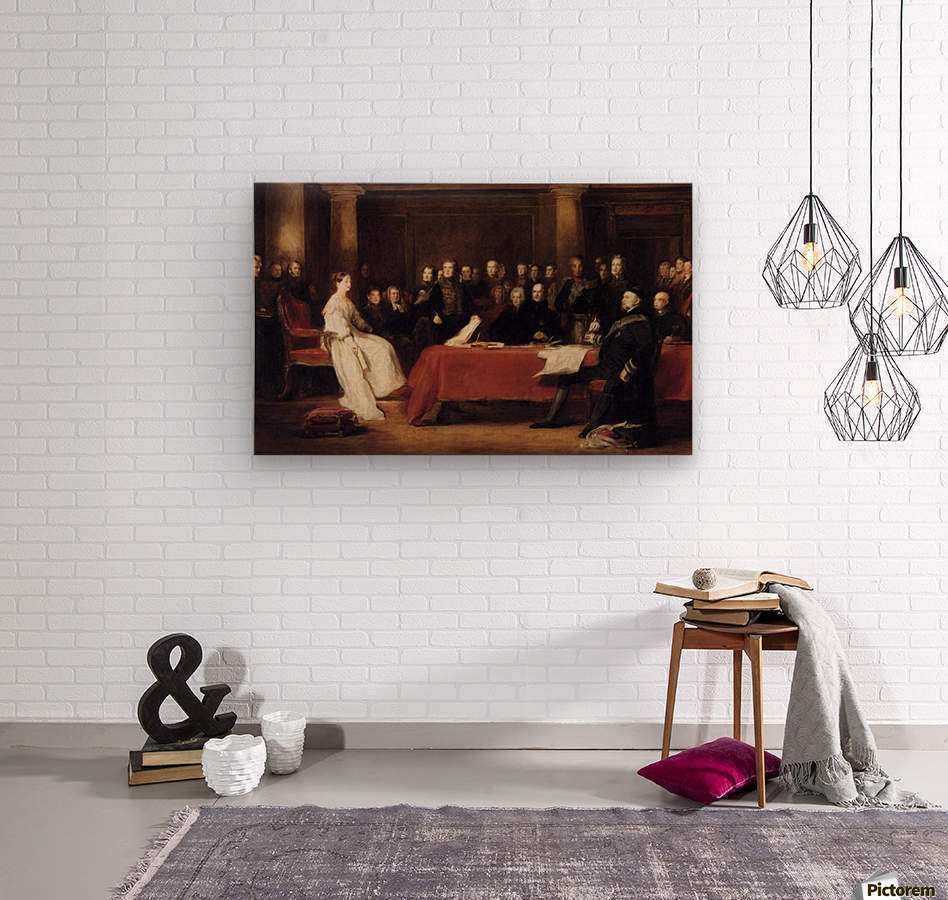 The First Council of Queen Victoria  Wood print
