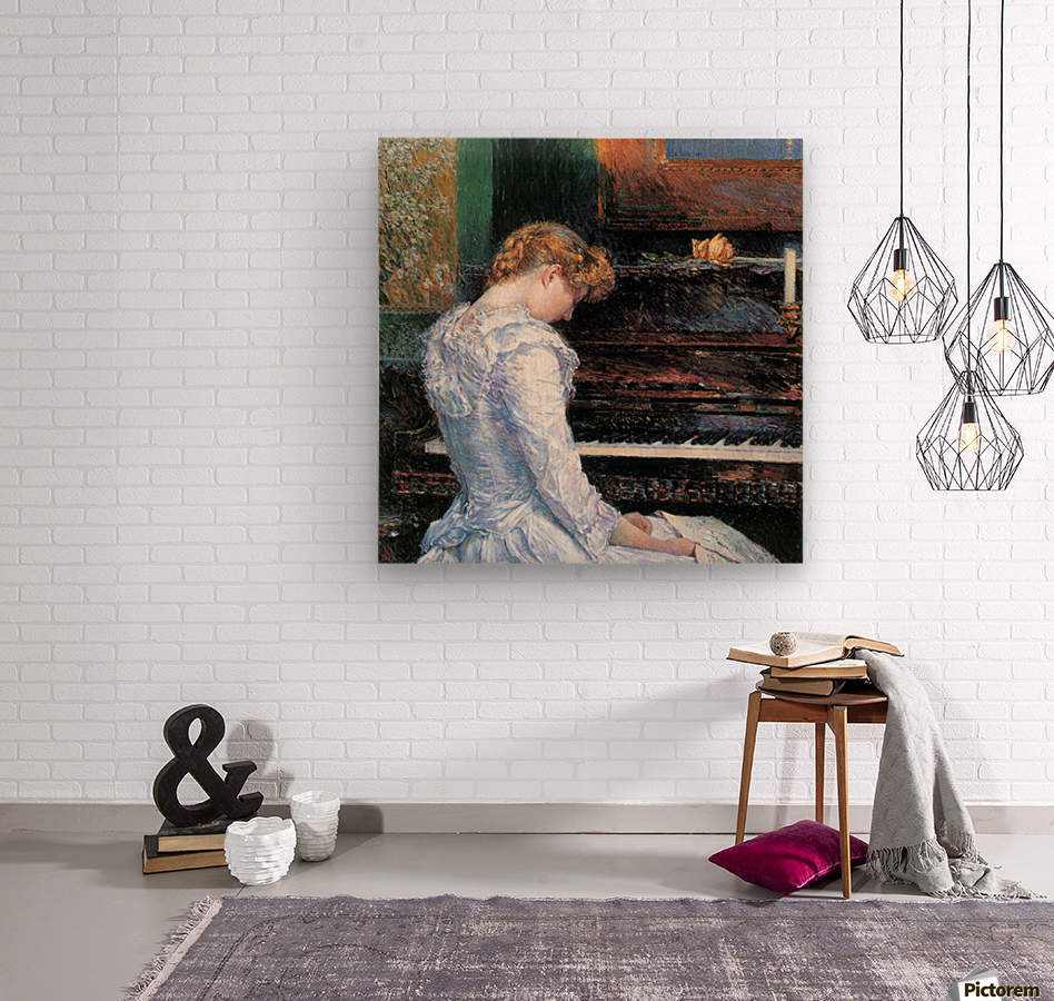 The Sonata by Hassam  Wood print