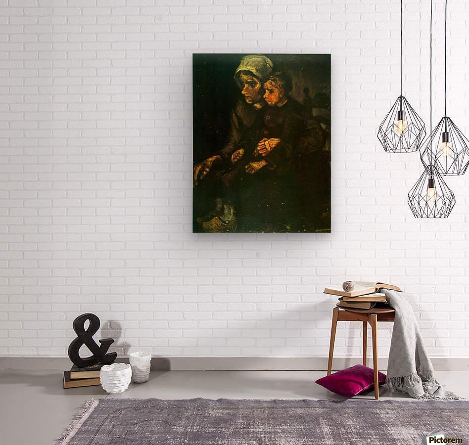 Child on Lap by Van Gogh  Wood print