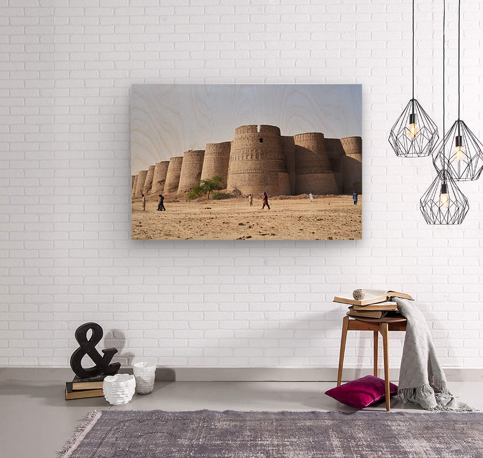 The majestic Derawar Fort in Pakistan  Wood print