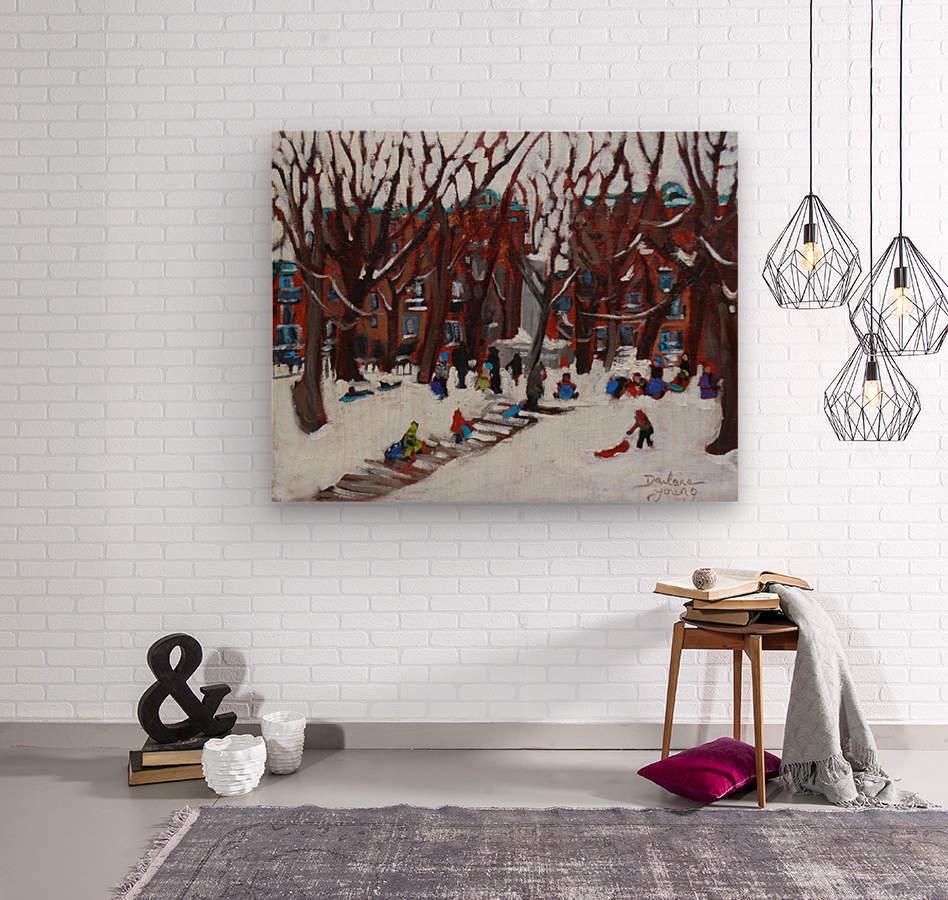 Park La Fontaine  Wood print