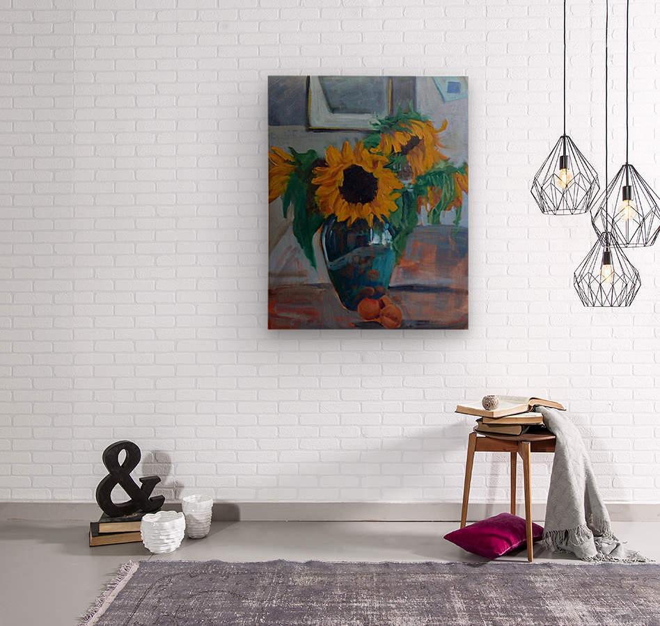 sunflowers home  Wood print