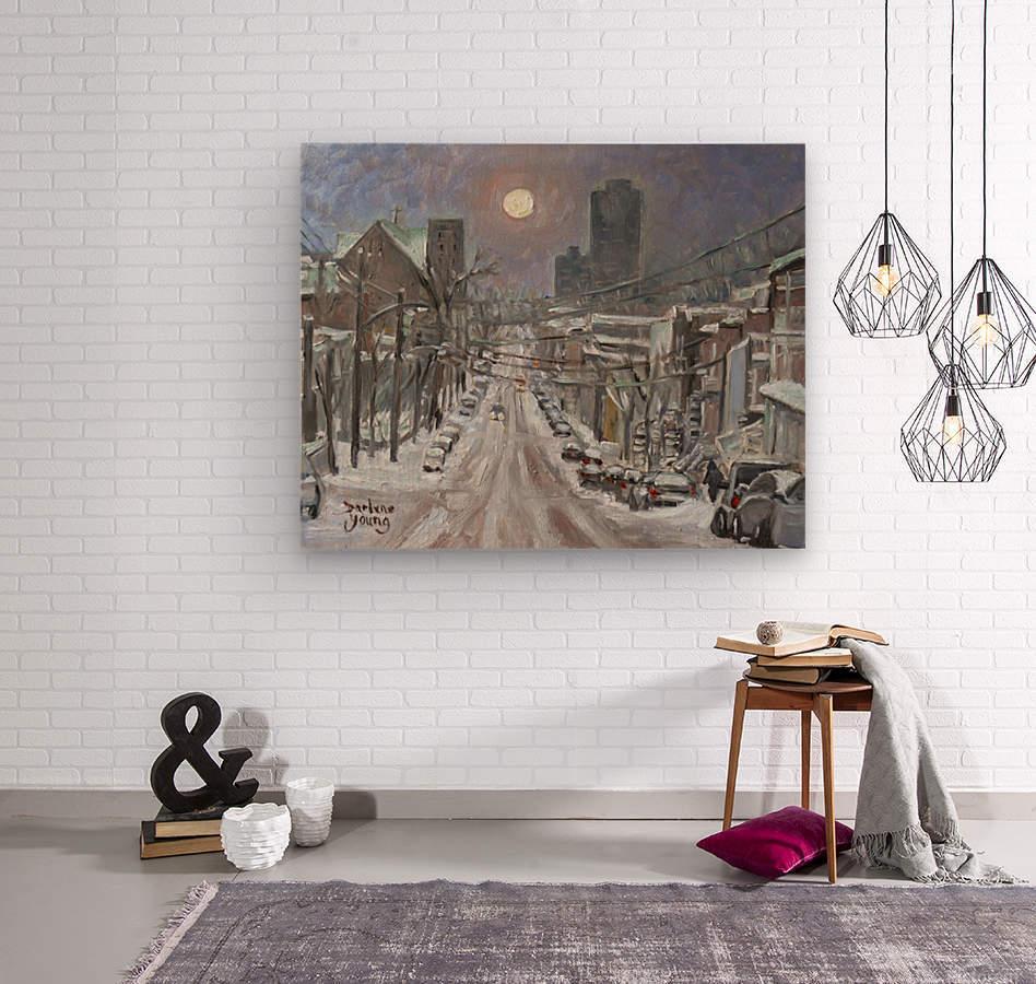 Full Moon Over Montreal  Wood print
