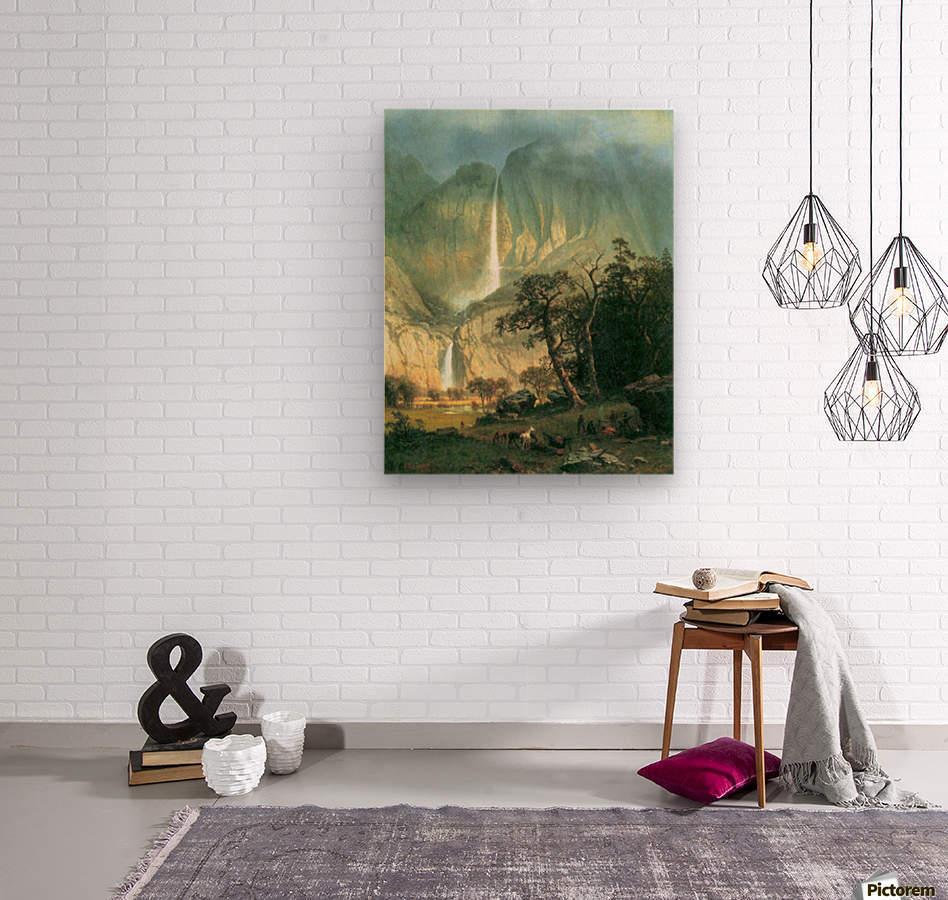 Cho-Looke,  Yosemite Watterfall by Bierstadt  Wood print