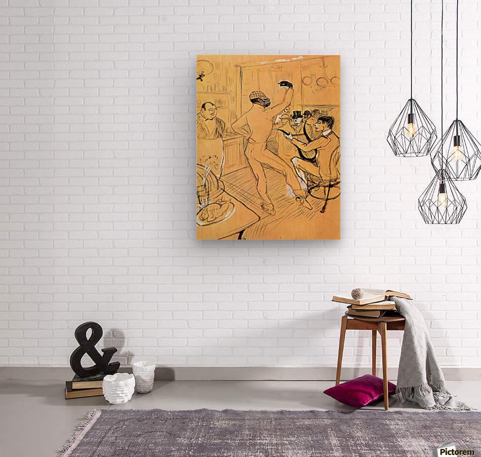 Chocolat dance by Toulouse-Lautrec  Wood print