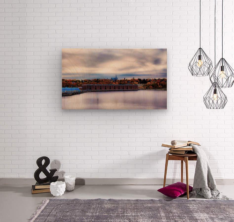 Barrage  Wood print