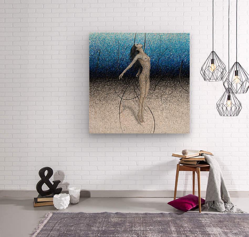 Ascension - Blue  Wood print