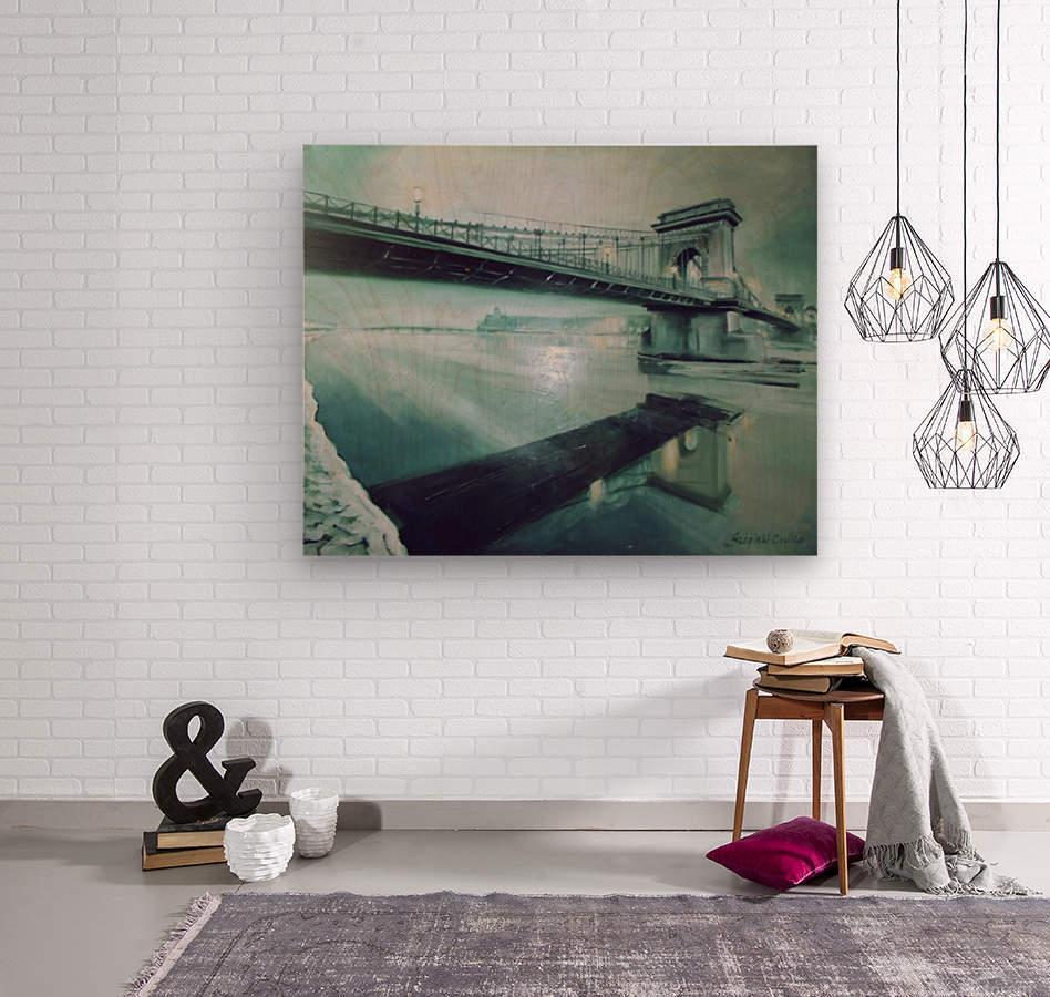 Chain Bridge  Wood print