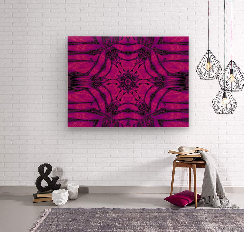 Purple Desert Song 19  Wood print