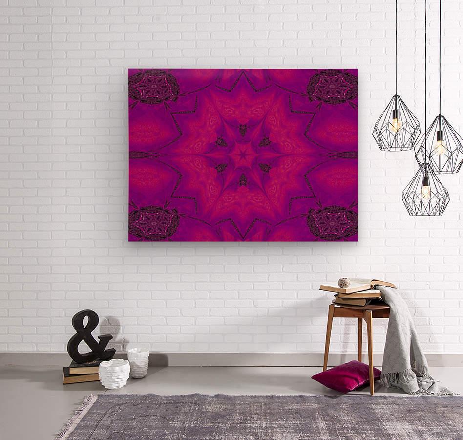 Purple Desert Song 29  Wood print