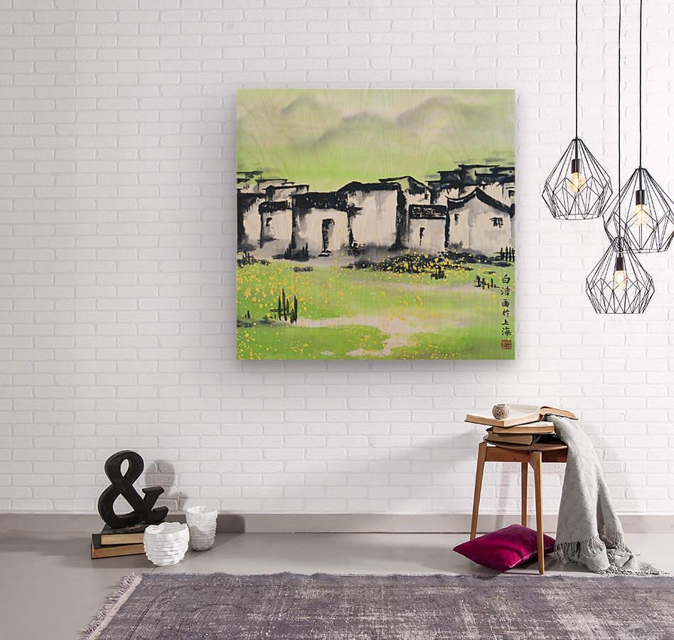 Zhongguo Cun - Chinese Village  Wood print
