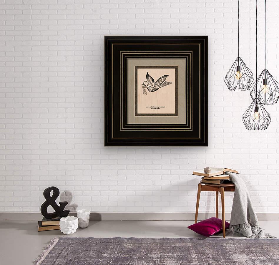 art dove frame  Wood print