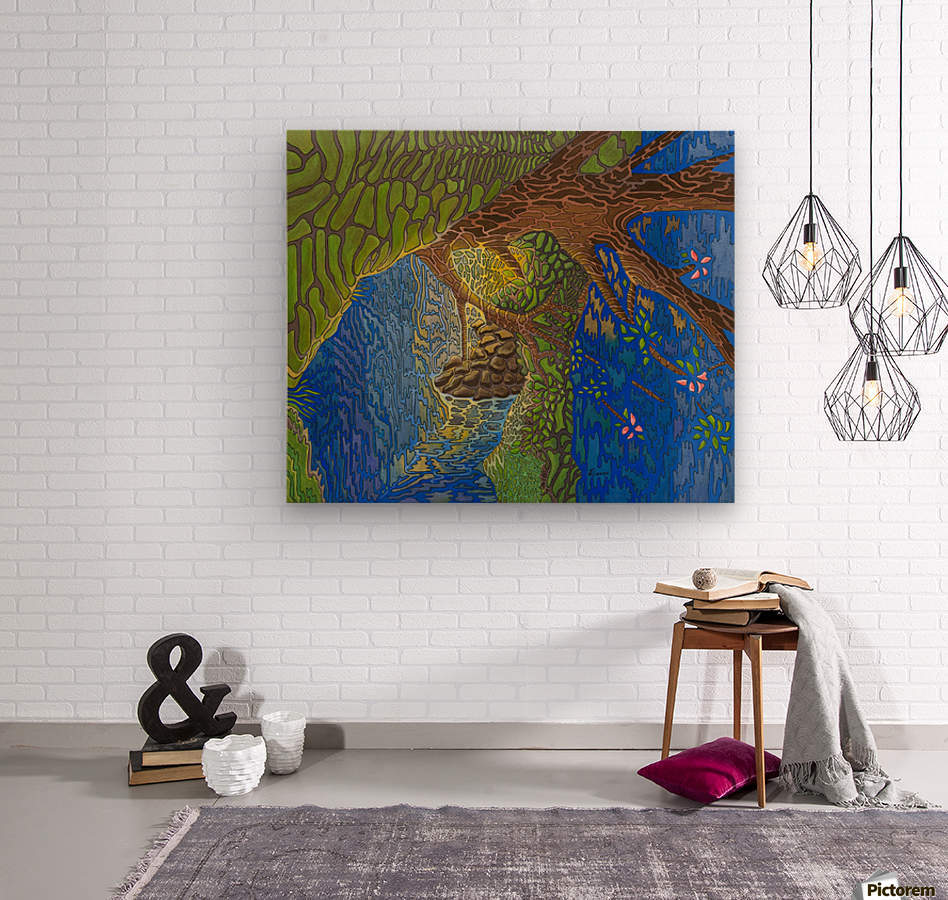 The Forth View  Wood print