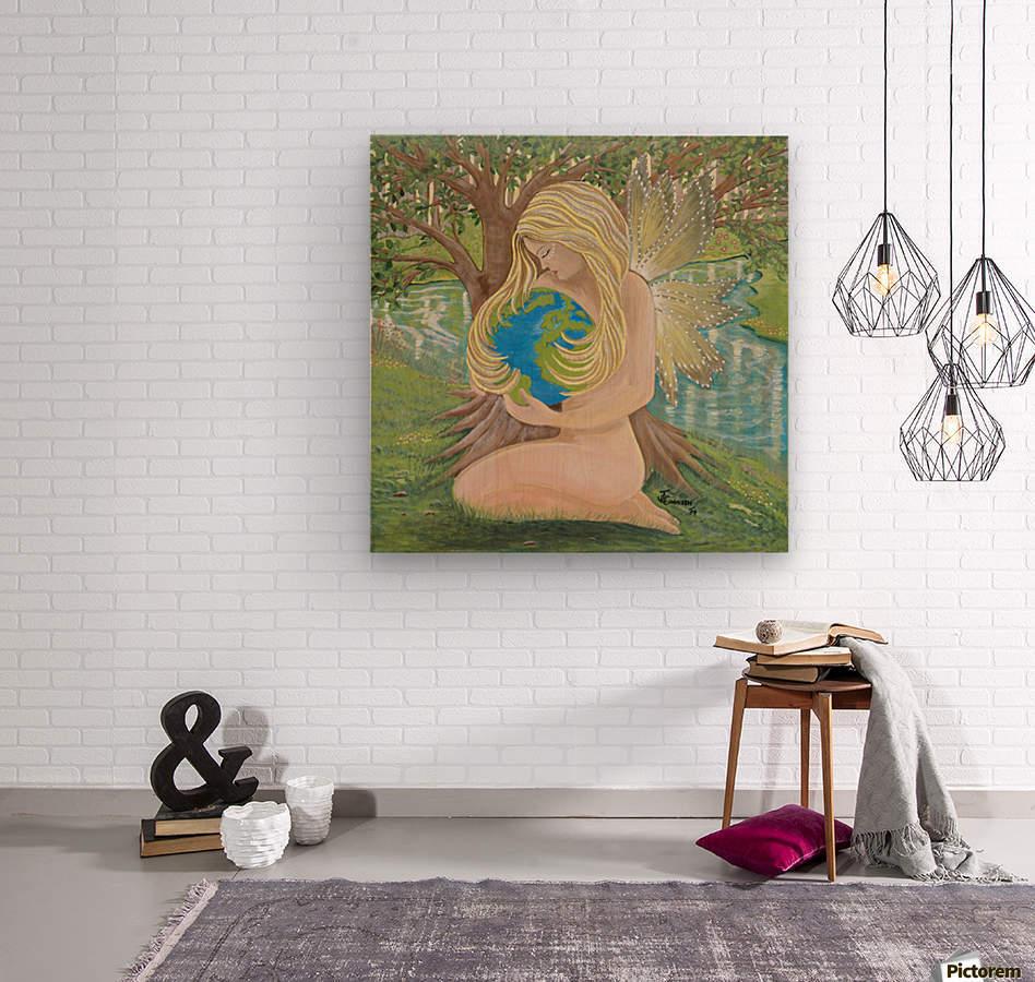 Thelema  Wood print