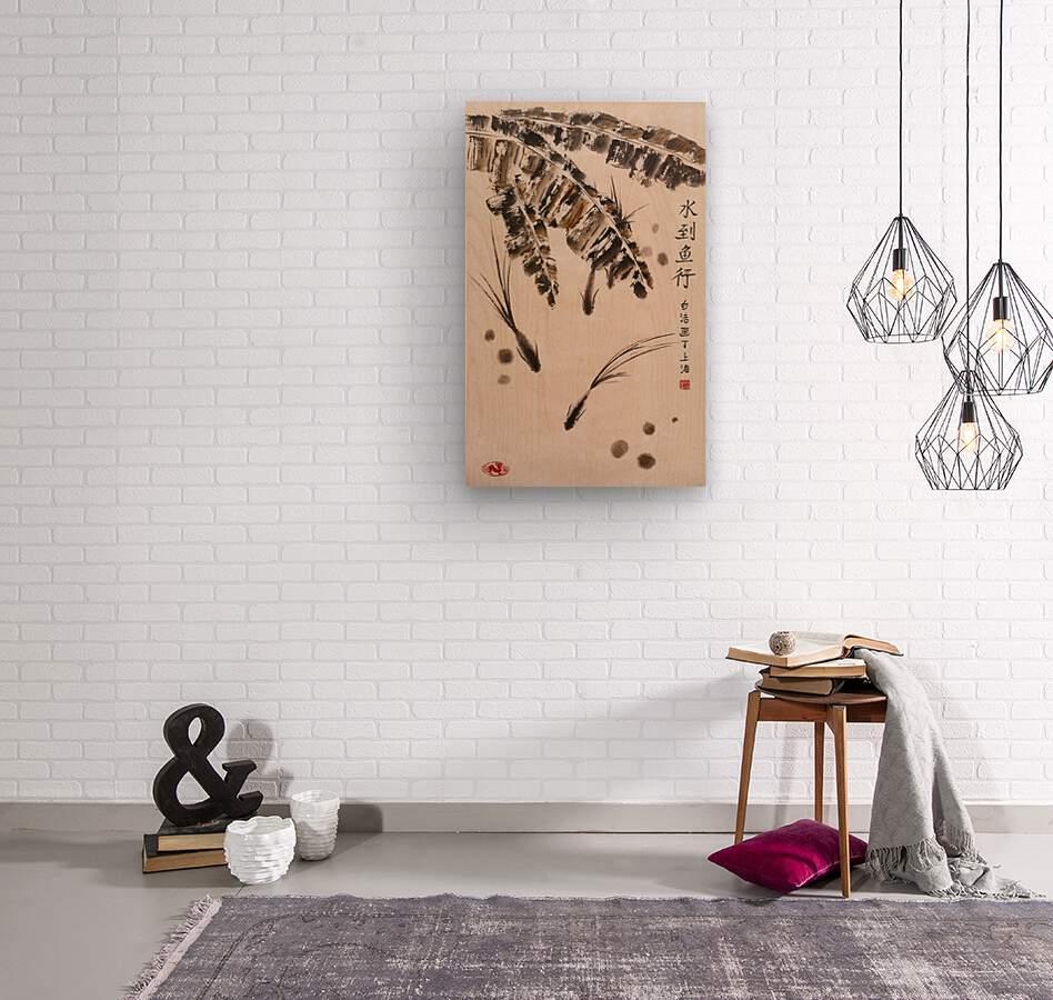 Three Little Fish  Wood print
